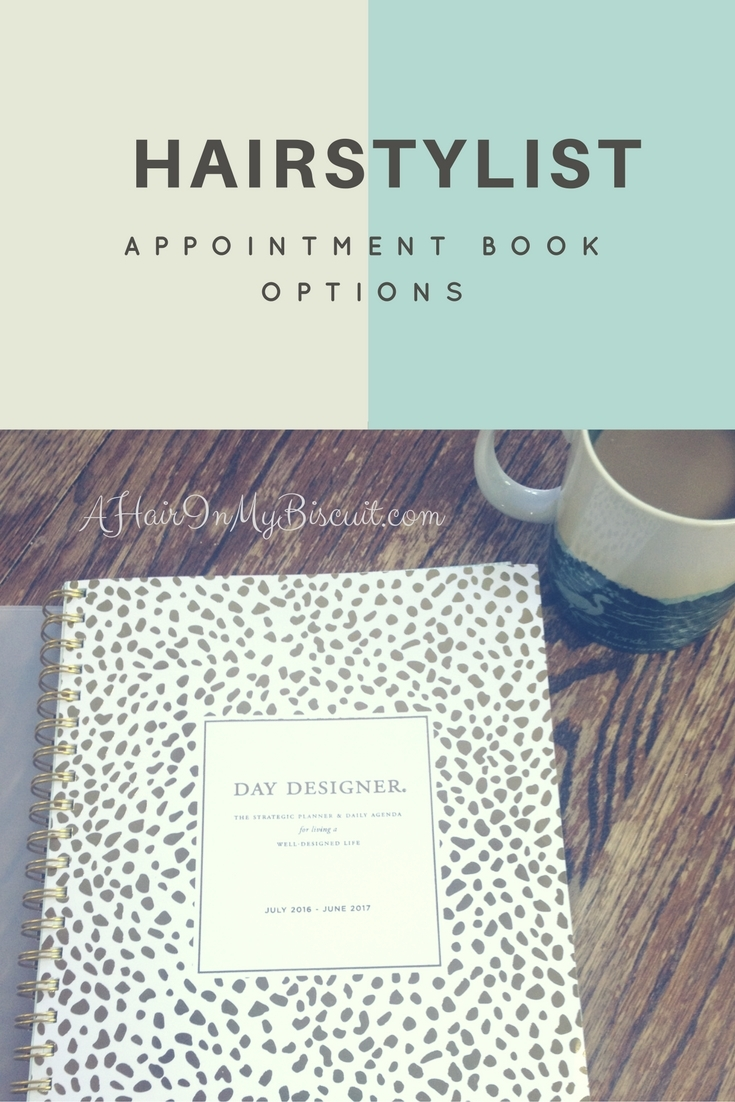 hairstylist appointment book